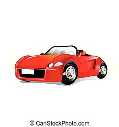 vector illustration of a red sports car