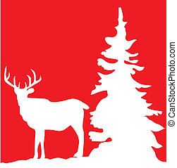 reindeer - vector illustration of a reindeer