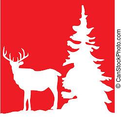 reindeer - vector illustration of a reindeer