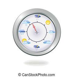 retro silver compass. - Vector illustration of a retro...