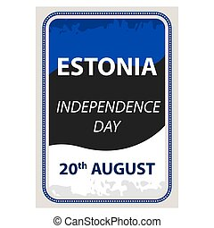 Vector illustration of a ribbon for Estonia Independence Day.