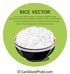 Vector illustration of a Rice Bowl
