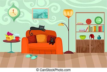vector illustration of a room