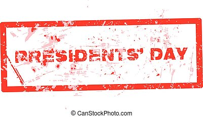Vector illustration of a rubber stamp for Presidents Day.