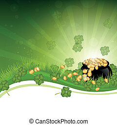 Vector Illustration of a Saint Patrick's Day Background