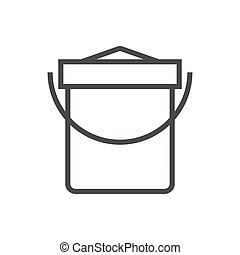 Vector illustration of a sand bucket.