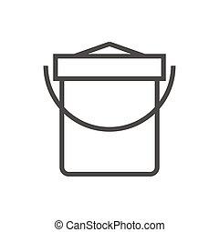 Vector illustration of a sand bucket.