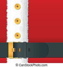 Vector illustration of a Santa Claus costume with belt