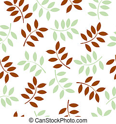 vector illustration of a seamless background made with leaves