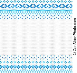 seamless blue and white knitted background