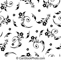 vector illustration of a seamless floral pattern