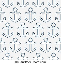 Vector illustration of a seamless pattern anchors