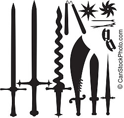 Vector illustration of a set of knives. EPS10