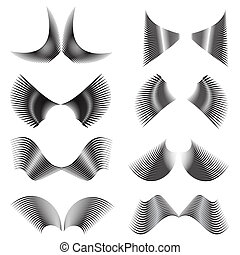 set of the abstract wings