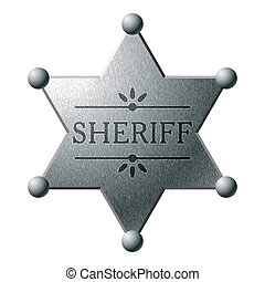 Vector illustration of a Sheriff badge