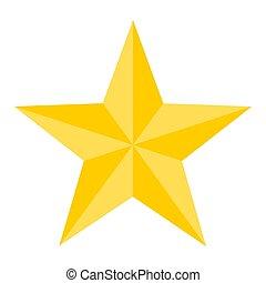 Vector illustration of a shining gold star