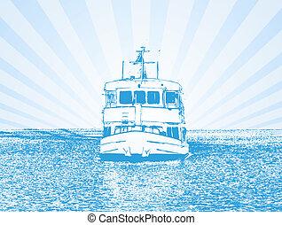Vector illustration of a ship