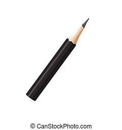 Vector illustration of a short office pencil isolated on a white background.