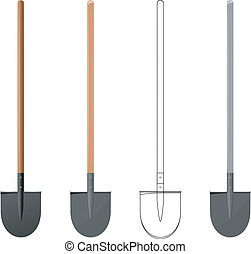 Vector  illustration of a shovel