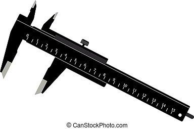 Black Caliper - Vector Illustration of a Simple Black...