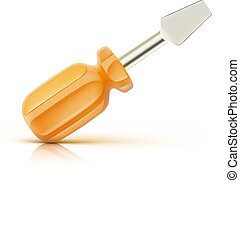 screwdriver icon - Vector illustration of a single detailed...