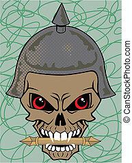 Vector illustration of a skull wear