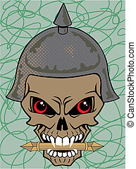 Vector illustration of a skull wear