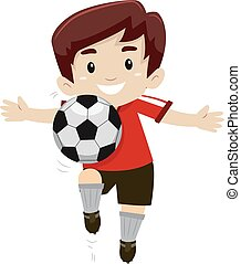Soccer Player Kick a Soccer Ball
