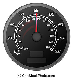 vector illustration of a speedometer that is speeding to the Limit of the car vehicle