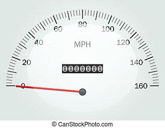 Vector illustration of a speedomete