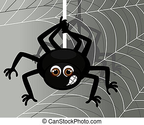 Vector Illustration of a Spider