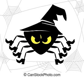 spooky halloween spider with hat