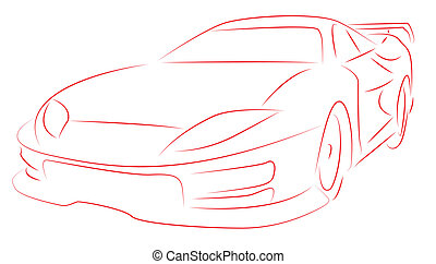 Sports car - Vector illustration of a Sports car