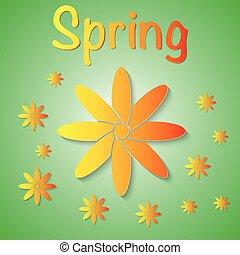 Vector illustration of a spring background