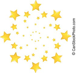 Vector illustration of a star set