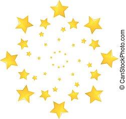 Vector illustration of a star set