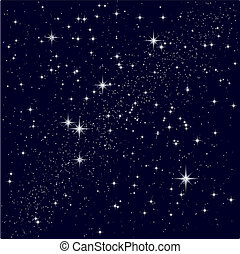 Vector illustration of a starry sky