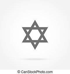 Star of David, Icon - vector illustration of a state symbol...
