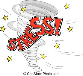 vector illustration of a stress tornado on white background