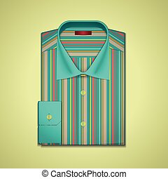 Vector illustration of a striped shirt