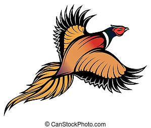 vector illustration of a stylish multi-colored flying...