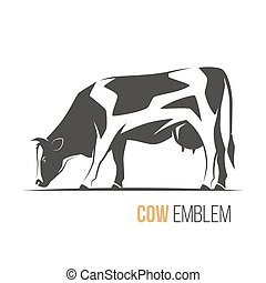 Vector illustration of a stylish spotted holstein cow.