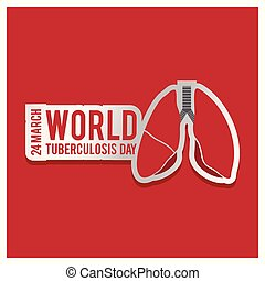 Vector illustration of a stylish text for World Tuberculosis Day.