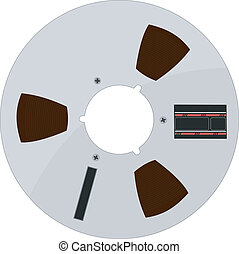 Vector illustration of a tape bobbin