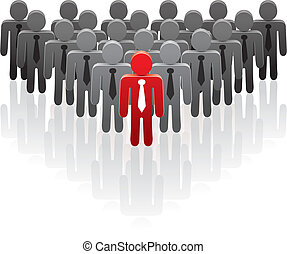 team and a leader - vector illustration of a team and a...