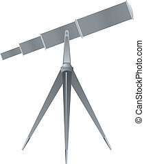 Vector illustration of a telescope
