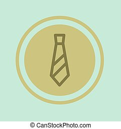Vector illustration of a tie in the circle icon