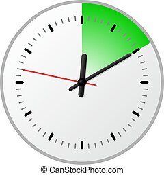 timer with 10 (ten) minutes - vector illustration of a timer...