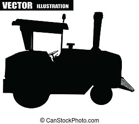 Vector illustration of a tractor