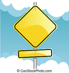 traffic sign - vector illustration of a traffic sign